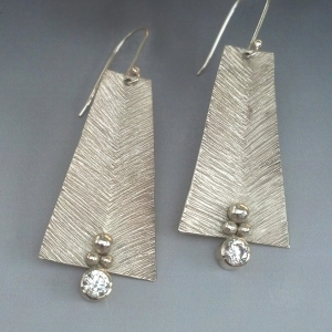 Sterling Fletching Aztec Earrings